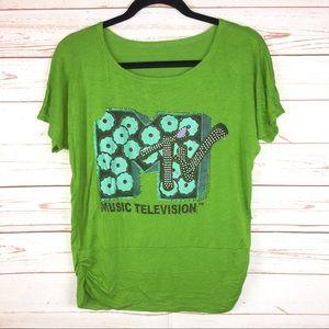 MTV Music Television Graphic Embellished Shirt M